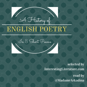 History of English Poetry in 8 Poems