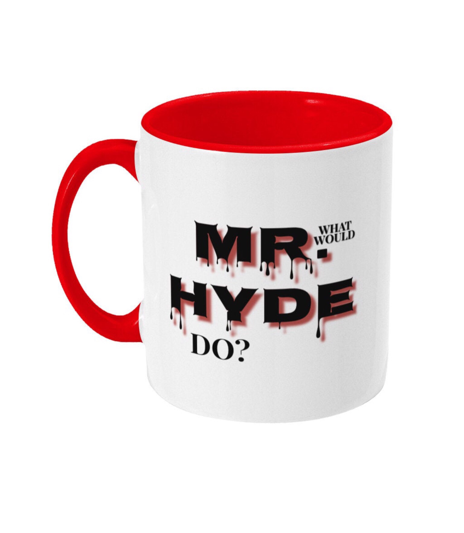 Jekyll and Hyde red two tone mug