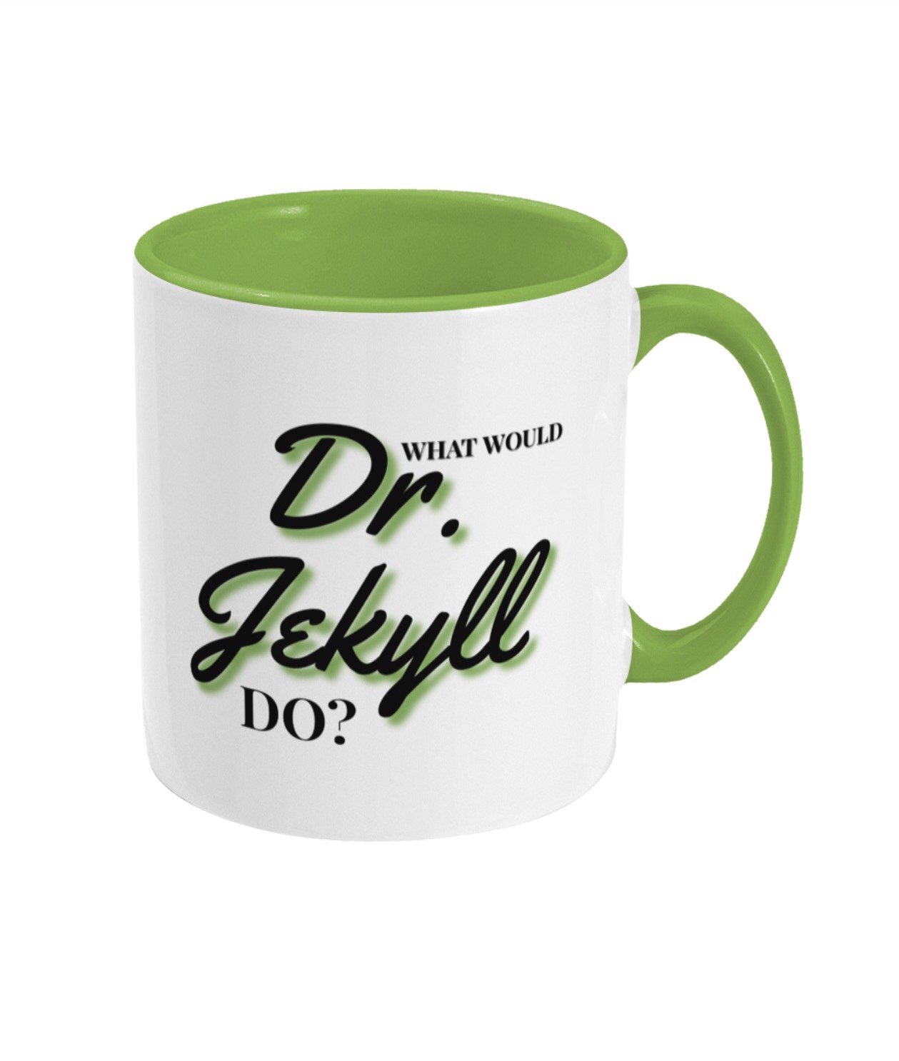 Jekyll and Hyde green two tone mug