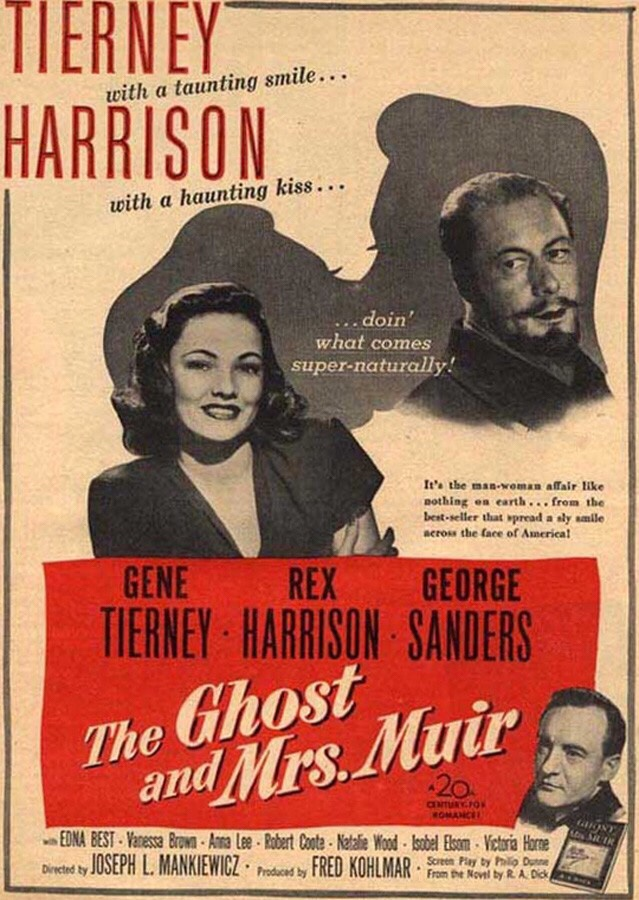 Poster for The Ghost and Mrs Muir, romantic film choice by Arcade Arkadina