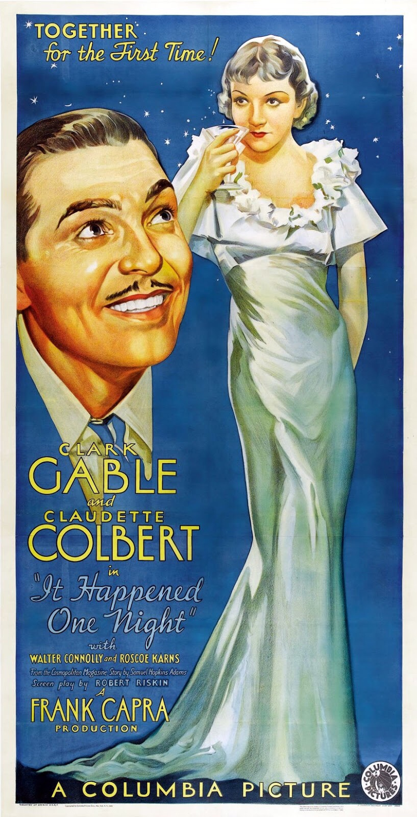 Poster for It Happened One Night, romantic film choice by Arcade Arkadina
