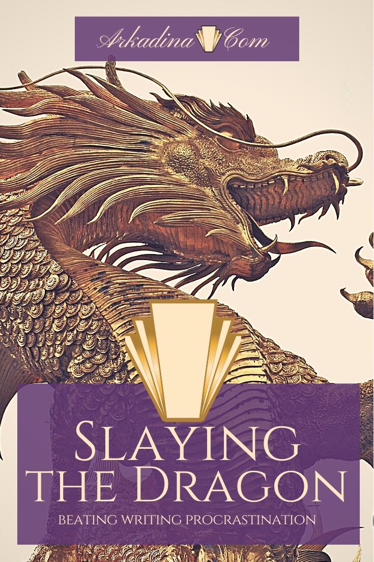 Dragon image. Slaying The Dragon Beating procrastination by Arkadina.com