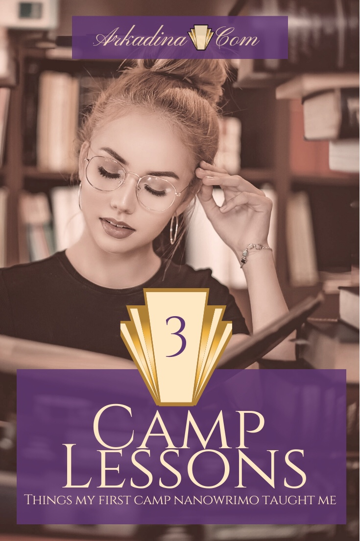 Woman reading book in a library - Camp NaNoWriMo Lessons 2020